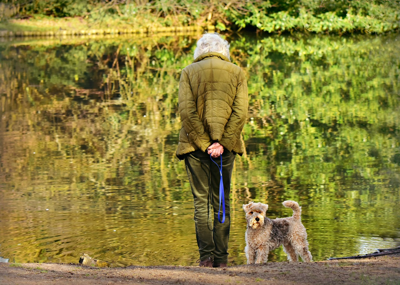 woman, elderly, standing
